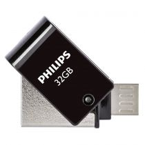 OTG Sticks - Philips 2 in 1 Nero        32GB OTG microUSB + USB 2.0
