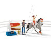 Revenda Figuras Animais - Schleich Horse Club        42443 Mias vaulting riding set