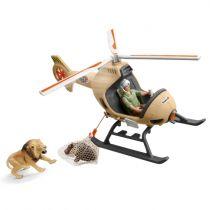 Figurini Animali - Schleich Wild Life    42476 Animal rescue helicopter