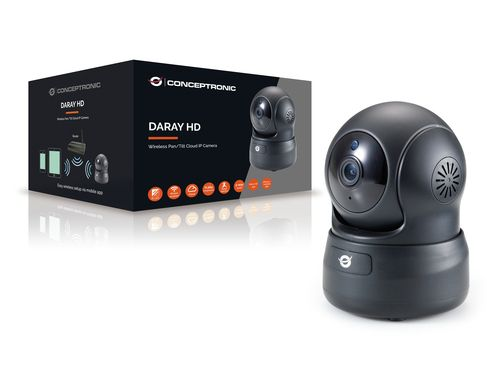 CONCEPTRONIC CAMERA DARAY HD WIRELESS PAN/ TILT CLOUD IP 720P
