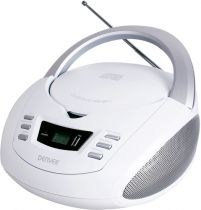 Radio Cassette CD Player - Radio CD Denver TCU-211 branco