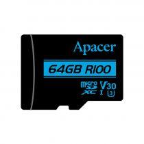 Revenda Micro SD / TransFlash - Apacer microSDXC 64GB Cartão memória UHS-I (U3), Class 10 V30 | Read:
