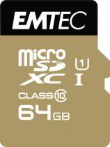 Revenda Micro SD / TransFlash - Emtec 64GB microSDXC Cartão memória Elite Gold Class 10 UHS-I (U1) | R