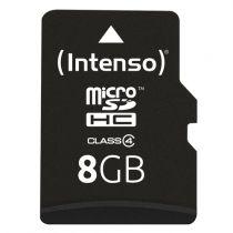 Revenda Micro SD / TransFlash - Intenso microSDHC 8GB Cartão memória Class 4 | Read: 21 MB/s, Write: 5