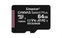 Micro SD / TransFlash - Kingston 64GB microSDXC Cartão Memoria Canvas Select Plus bl