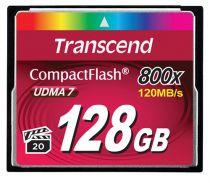 Revenda Compact Flash - Transcend CompactFlash 128GB Cartão memória Preto Ultimate 800x   Read