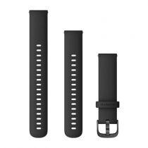 Revenda Acessórios Garmin - Garmin Banda 18mm Silicone preto/Cinza