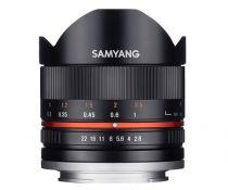 Revenda Objectivas p/ Sony - Objetiva Samyang F 2,8/8 Fish-Eye II Preto Sony E-Mount