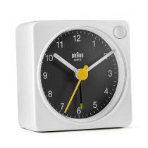 Orologi da muro - Braun BC 02 XBW quartz alarm black / white + light switch