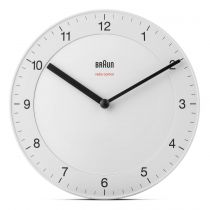 Revenda Relógios Parede - Braun BC 17 W-DCF radio Relógio Parede Branco