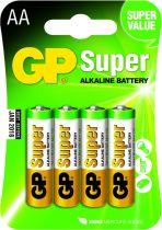 Batterie - Pilhas 1x4 GP Super Alkaline 1,5V AA Mignon LR06          03