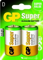 Batterie - Pilhas 1x2 GP Super Alkaline 1,5V D Mono LR20             03