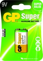 Batterie - Pilhas GP Super Alkaline 9V-Block 6LR61                 0301
