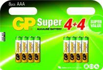 Batterie - Pilhas 4+4 GP Super Alkaline 1,5V AAA Micro LR03        0302