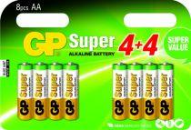 Batterie - Pilhas 4+4 GP Super Alkaline 1,5V AA Mignon LR06        0301