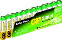 Batterie - Pilhas 1x12 GP Super Alkaline 1,5V AAA Micro LR03         03
