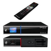 Revenda TV Satelite - GigaBlue UltraHD UE 4K Recetor Satelite preto, DVB-S2 FBC, Twin DVB-S2