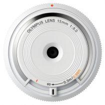 Revenda Objectivas p/ Olympus - Objetiva Olympus BCL-1580 Body Cap Lens Branco
