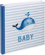 File Fotografici - Album Foto Walther Sam blue 28x30,5 50 Bianco Pages Babyalbu