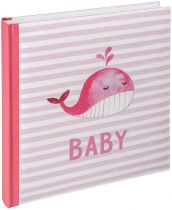 File Fotografici - Album Foto Walther Sam pink 28x30,5 50 white Pages Babyalbum