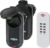Adattatori rete - Brennenstuhl Funkschaltset 1000W 2x IP44 Empfänger 1x Hands