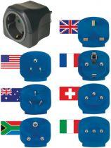 Adattatori rete - Brennenstuhl Weltreisestecker + 7-Adaptern  per DE