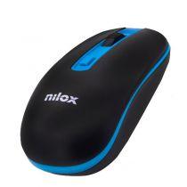 Mouse senza fili - Nilox Mouse Senza fili 1000 DPI Nero/AZUL Sem fios