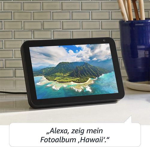 Colunas Smart Assistant Amazon Echo Show 8 Preto Smart Home Hub + scre