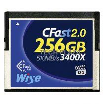 Revenda Outros Cartões Memória - Cartão Memória Wise CFast 2.0 Card 3400x  256GB blue