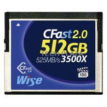 Revenda Outros Cartões Memória - Cartão Memória Wise CFast 2.0 Card 3500x  512GB blue