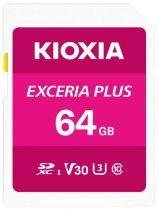 Revenda Secure Digital SD - Cartão Memória Kioxia Exceria Plus SDXC 64GB Class 10 UHS-1 U3