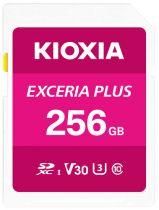 Revenda Secure Digital SD - Cartão Memória Kioxia Exceria Plus SDXC 256GB Class 10 UHS-1 U3