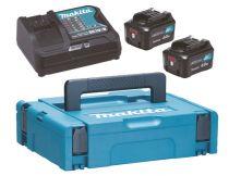 Revenda Carregadores Ferramentas - Makita Fonte de Alimentação Kit 12V 4Ah, Set black, 2x Bateria BL1041B