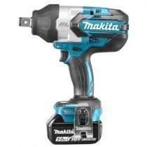Revenda Berbequins percussão - Makita Chave Impacto sem fios DTW1001RTJ 18V blue/black, MAKPAC Gr.3,
