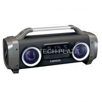 Revenda Rádio Cassette / CD - Radio CD Lenco SPR-100 preto