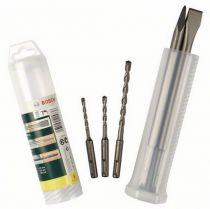 Revenda Acessórios Perfuração - Conjunto Brocas + Cinzel Bosch SDS-plus 5pcs.