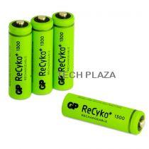 Revenda Pilhas Recarregáveis - Pilhas 1x4 GP ReCyko NiMH Bateria AA 1300mAH, ready para use, NEW