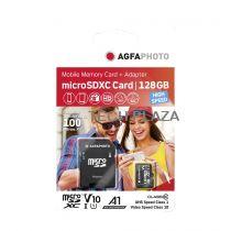 Revenda Micro SD / TransFlash - Cartão Memória AgfaPhoto MicroSDXC UHS-I  128GB High Speed Class 10 U1