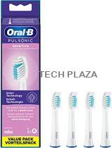 Revenda Higiene Dentária Acessórios - Braun Oral-B Cabeça Escova Dentes Pulsonic Sensitive 4 pcs.