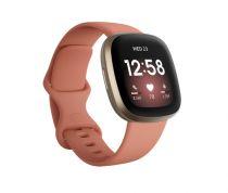 Revenda Fitness tracker / Smart wristband - Relógio desporto Fitbit Versa 3 altrosa/softgold