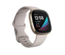 Revenda Fitness tracker / Smart wristband - Relógio desporto Fitbit Sense mondbranco/softgold