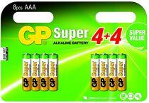 Revenda Pilhas - Pilhas 8+8 GP Super Alkaline AAA Micro LR03 SUPER VALUE Blister