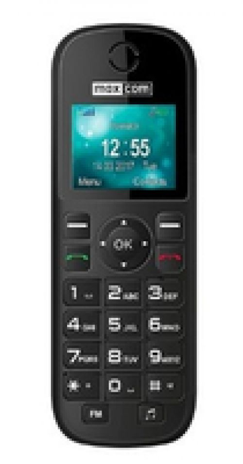 Telefone Fixo Maxcom  Comfort MM35D Single SIM 2G Preto