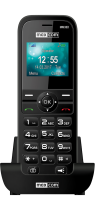 Revenda Telefones Fixos Analógicos - Telefone Fixo Maxcom  Comfort MM36D Single SIM 3G Preto