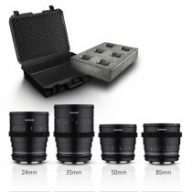 Revenda Objectivas p/ Canon - Objetiva Samyang MF 24/35/50/85 MK2 Video Malaset Canon EF