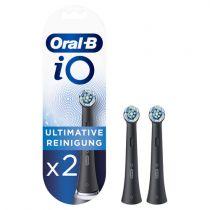 Revenda Higiene Dentária Acessórios - Braun Oral-B iO Cabeça Escova Dentes Ultimate Cleaning 2 pcs.  Black
