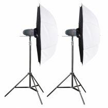 Revenda Iluminação Estúdio - walimex pro Newcomer Mini 200 Studioset