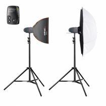 Revenda Iluminação Estúdio - walimex pro Newcomer Starter 3.3 Studioset