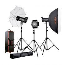 Revenda Iluminação Estúdio - Godox QT400II-C Studio-Kit studio flash unit kit 2 x 400Ws