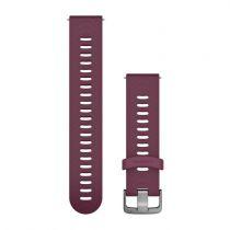 Revenda Adaptadores - Garmin Bracelete desbloqueio rápido bordeaux silicone - aço inoxidável